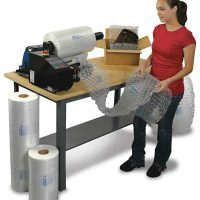 Sealed Air Fill Air Rocket Inflatable Packaging 125mm