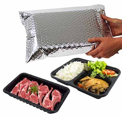 Cold Chain Thermal Bag with Food